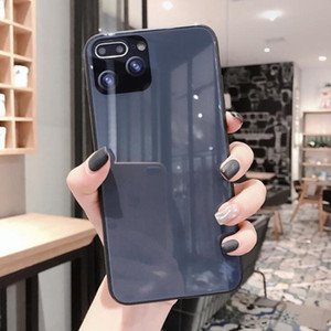 새로운 창조적 인 두 번째 변경 iPhone 11 Pro Max 휴대 전화 케이스 Apple XS Max Max Dark Night Green 7 / 8Plus Glass Cover AirPods Case