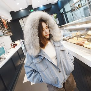 Bella Philosophy Wonder 2020 New Winter Denim con capucha Streetwear Streetwear Lady Chaquetas Casuales Parka Femenina Sola Breasted Outwear Q0119