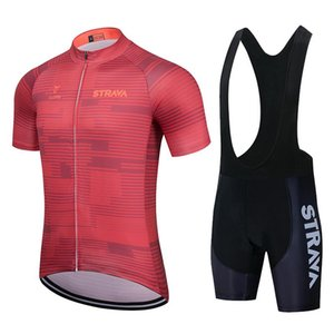 2021 STRAVA Men's Cycling Jersey Long sleeve set MTB Bike Clothing Maillot Ropa Ciclismo Hombre Bicycle Wear 19D GEL bib pants
