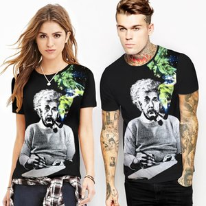 2021 New Summer Digital Print Fashion Couple T-shirt Spring Joker Graphic Tees Short Sleeve Japanese Harajuku Top Women Streetwear Lgmi