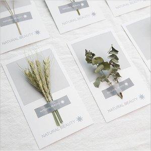 Kunst handgetrocknete Blumen Grußkarte 2021 Neue Persönlichkeit DIY Grußkarten Urlaub Universal Grußkarten Großhandel GWD5401