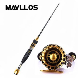 MAVLLOS Titan Rod Tip Flow Fishing Rod Reel Combo Saltwater Ultra Light Spinning Casting Fishing Reel Set