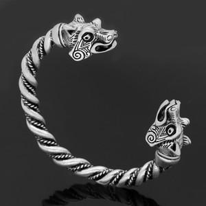 Nordic dragon Celtic wolf head men's accessories Viking bracelet FashionN537XA43
