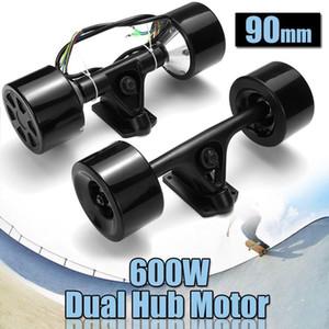 Yüksek Güçlü Çift Sürücü Scooter Hub Motor Kiti DC Fırçasız Tekerlek Motoru Elektrikli Kaykay için Uzaktan Kumanda 600 W