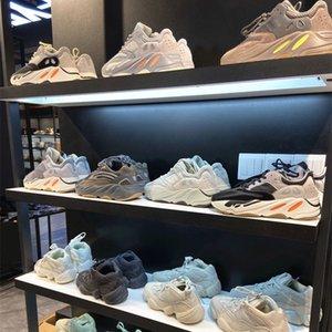 Kanye 700 V2 Zapatillas de correr Ash Blue Sneaker Zebra Cinder Cail Light 3M Reflective Israfil Asriel Lino para mujer Para hombre Tablas de calidad superior con caja de 36-45