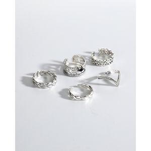 Ring Jr027-031 Korean S925 pure silver women's