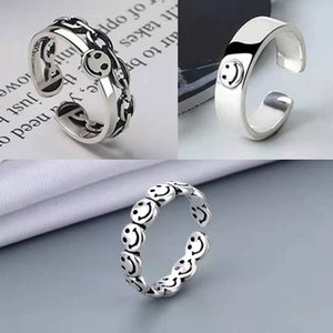 Personality Ring Dark Silver Luminous Band Ring Ladies Friend Gift Vintage Fashion Jewelry 2021