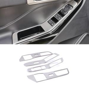 Для Ford Explorer U625 2020 Автомобильные аксессуары Chrome Внутренняя дверь Внутреннее Выключатель Крышка Стеклянная Подвеска Кнопка Управления Панель