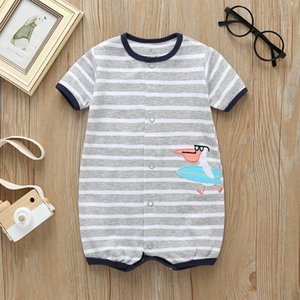 malapina 2020 Summer Newborn Baby Boy Girl Shark Romper Short Jumpsuits Infant Outfit Baby Cute Costume Clothing Q0201