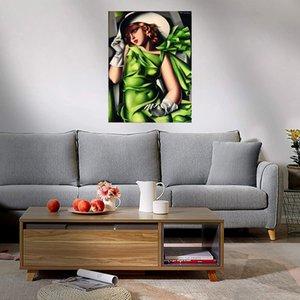 Tamara lempicka jovem senhora com luvas pintura a óleo sobre canvas home decoração handcrafts / hd cópia arte da parede imagem 210316