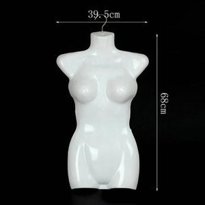 New Wholesale Dropshipping !!! Female Mannequin Injection-molded Adjustable Plastic Female Half Body Mannequin Form for Display