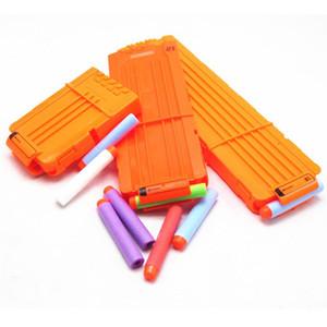 6 12 18 Reload Clip Magazines Round Dart Sostituzione Rivista Plastic Magazine Giocattolo Gun Soft Bullet Clip Orange N-Strike Elite Bambini regalo GWF5303