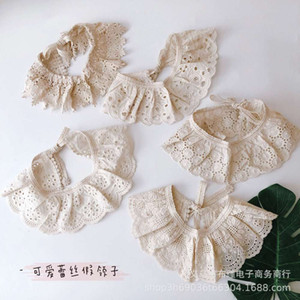 Lovely cut out lace children's scarf versatile girl baby sweet doll fake collar shawl