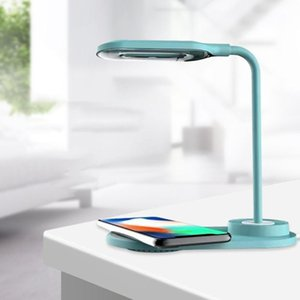 Table Lamps Table Desk Lamp LED Portable Desk With Wireless Charger Eye-Caring Charging Light