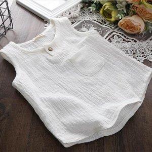 Vest 2021 Children's Cotton And Linen Boys' Korean Breathable Thin Baby Sleeveless Top