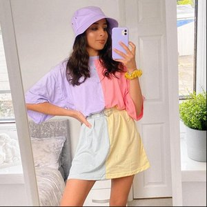 SUCHCUTE oversized t shirt women tie dye plus size womens clothing summer 2021 fashion top modis korean style grunge womenswear