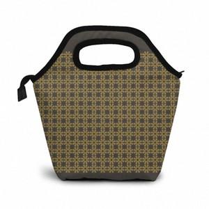 Patttttttern Lunch Bag Boxes Bags Portable Insulated Picnic Box For Women Men 1840#