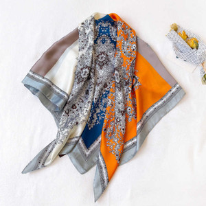 South Korea's new cashew color matching scarves women's spring and summer simulation silk thin dress stewardess scarf