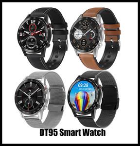 1,3 Zoll Full Touch Screen DT95 Smart Watch Für Männer Bluetooth IP68 Wasserdichte EKG Heizung Geschwindigkeit 360 * 360 Wecker Sleep Spielen Musik Sport