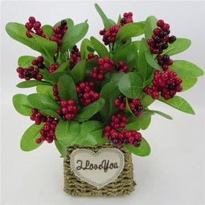 Simulation Fruits Christmas Berry Simple Branch Plantes Fleurs artificielles DIY Mariage Mariage Bureau Home Decor