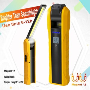 Flashlights Torches LED Lamp Rechargeable Work Car Repair Bright Outdoor Camping Tent Fishing Waterproof Magnetic Battery Power D