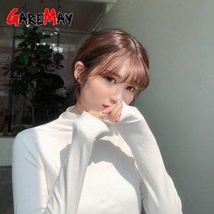 Women's Blouses & Shirts 2021 Autumn White Shirt Long Sleeve Tshirt Women Slim Fit Ladies T-shirt Casual Korean Clothes Top Tee