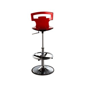 Furnitures modern minimalist style acrylic custom-made rotating bar chair with short backrest can be customized