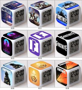 Novo LED Fortnite Despertador Fortnite Competitive Shooting Game Colorido Brilhante Pequeno Despertador Fortnite Alarm Clock AHF5052