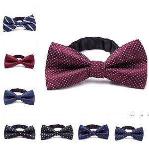 Formal Gentleman Neck Tie kid Bowtie Children's Bow Tie Colorful Bowtie Star Check Polka Dot Stripes EWA4031