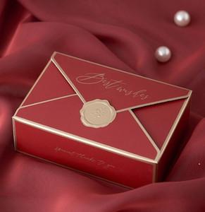 Creative Paper Box Bonbonniere Folding Cardboard Envelope Wedding Candies Gift Box Gift Wrap Packaging Wedding Supplies Packing Box HWC5813