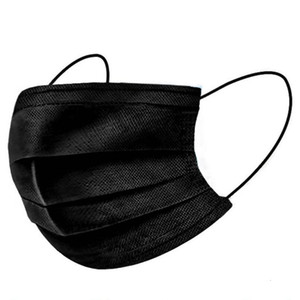 Lowest Price To 3-7 Us Days Disposable Face Masks Cover Elastic Ear Loop 3 Ply Breathable for Blocking Dust Air Anti-pollution Bla