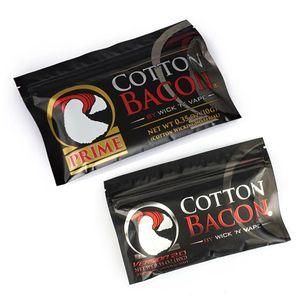 100% органический хлопок Самый новый хлопок Bacon 2.0 Prime Gold Version для DIY RDA RBA распылителей Нагревательные катушки проволоки E сигареты испарители