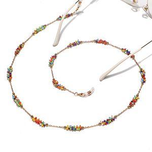 fashion handmade reading chain clip colorful rice bead Eyeglass Chain eyeglass rope chain landyard accessories