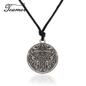 Assister Fashion New Yggdrasil Pendentif Tree of Life Arbre Monde Pendentif Irminsul Collier Viking pour Homme / Femme