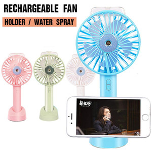 Portable Handheld USB Mini Fan with Cooling Humidifier Rechargeable Battery Water Spray Fan with Retail Box