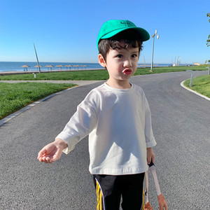 Boys' T-shirt Long Sleeve Spring Thin Baby Autumn Top 2021 New Children's Undershirt Fashion