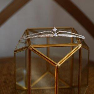 FIDDY898 Simple Tiaras et Crowns Zircon Pageant POM DIADEM Accessoires pour cheveux de mariage bijoux pour photos Tirez