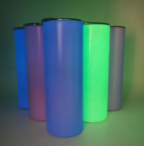 DIY Sublimation Tumbler Glow in The Dark Tumbler 20oz STRAIGHT Skinny Tumbler with Luminous paint luminous Cup magic#202170