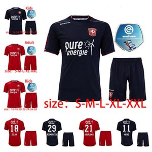2021 Fútbol de Hombres Twete Enschede FC Sportswear 20 21 Maillot de Pie Home and Weeight Black # Red Menig Selahi Aburjania Roemeratoe Football