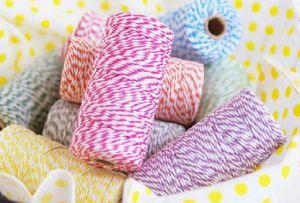 Hot algodão Baker Twine 21 Cores Presente Embalagem de Cor Dupla Twine Algodão