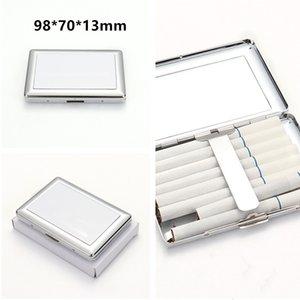 Casi di sigaretta in metallo sublimazione 98 * 70 * 13mm lati singoli a trasferimento termico accessori per fumare accessori fai da te Blanks Sigaretta scatola spedizione veloce A12