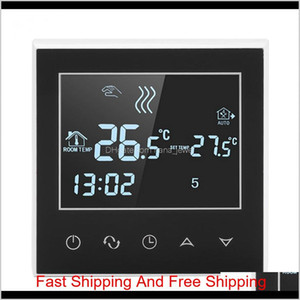 Programmable Wifi Wireless Heating Thermostat Digital Lcd Touch Screen App Control Wireless Thermostat Temperature Meter 5Ah8L 1Miev