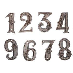 Plaques de porte de quincaillerie Numéro de maison moderne Numéro de bronze Numéros d'adresse House Numérique Plaques Plaques Numéro de plancher OWB5267