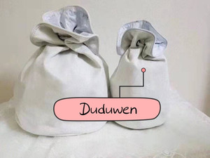 selections white canvas string bag fashion printed letters C gift sundries storage case duduforvip
