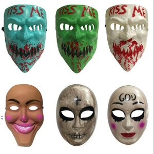 Halloween party Mask God Cross Scary Masks Cosplay Party Prop Collection Full Face Creepy Horror Movie Masque Masks OWB8994