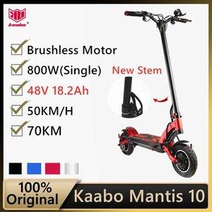 Оригинальный Kaabo Mantis 10 ECO 800 Kickscooter Один мотор 800W 48V 18.2Ah Smart Electric Scapeer Два колеса складной скейтборд