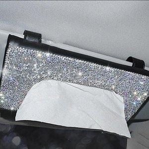 Tissue Boxes & Napkins Car Holder Anti-blocking Sights Sun Visor Box Napkin Dispenser For Auto Vehicle LC