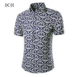 Мужская Гавайская Рубашка Мужской Повседневная Камиза Маскулина Печатные Пляжные Рубашки с коротким рукавом Летняя Мужская Одежда 2021 Азиатский Размер M-3XL