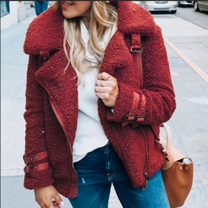 2021 New Long Sleeve Warm Plush Faux Coat Women Winter Soft Fur Jacket Female Casual Short Hair Outwear Coats Iqu2