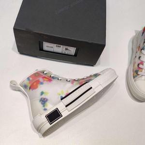 dior shoes 2021 Yeni Sınırlı Sayıda Özel Baskılı Tuval Ayakkabılar, Moda Çok Yönlü Yüksek ve Düşük Ayakkabı, Orijinal Ambalaj Ayakkabı Boyutu 35-45